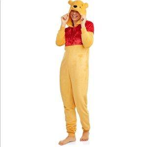 Womens Pooh Union Suit Pajama Halloween